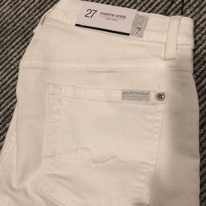 Size 27 7 all man kind white jeans Roxanne ankle